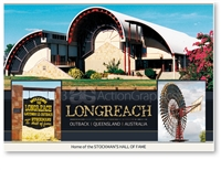 Longreach Home of the Hall of Fame - Standard Postcard LON-198