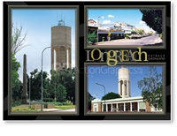 Longreach Water Tower, Main Street - DISCOUNTED Standard Postcard LON-201