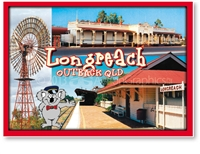 Longreach Railway Station - DISCOUNTED Standard Postcard LON-207