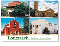 Longreach Buildings - DISCOUNTED Standard Postcard LON-208