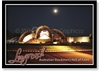 Longreach Hall of Fame at Night - Standard Postcard LON-209