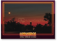 Longreach Sunset - Standard Postcard LON-210