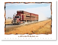 Longreach Cattle Train - DISCOUNTED Standard Postcard LON-354