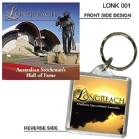 Longreach Stockman's Hall of Fame - 40mm x 40mm Keyring - LONK-001