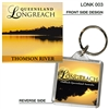Longreach Thomson River - 40mm x 40mm Keyring - LONK-003