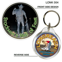 Longreach Stockman's Statue - 40mm Round Keyring LONK-004