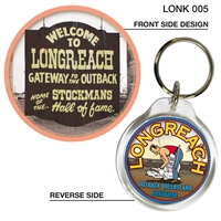 Longreach Gateway to the Outback - 40mm Round Keyring LONK-005
