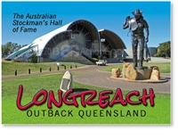 Australian Stockman's HOF and Statue - Small Magnets  LONM-003