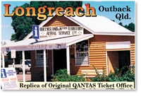 Longreach Qantas Ticket Office - DISCOUNTED Small Magnets  LONM-021