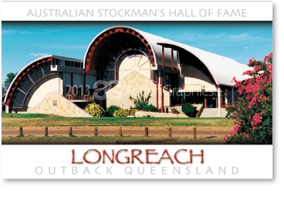 Longreach Qantas Ticket Office - Small Magnets  LONM-080