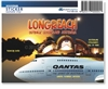 Longreach Outback Qld Australia  - Rectangular Sticker  LONS-001