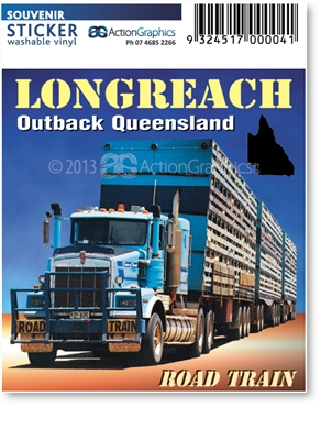 Longreach Road Train  - DISCOUNTED Rectangular Sticker  LONS-015