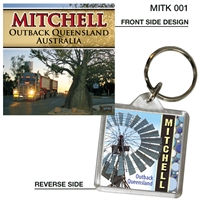 Mitchell Outback Queensland Australia - 40mm x 40mm Keyring  MITK-001
