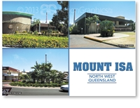 Mount Isa, Shire Council, Civic Centre, Street Scene - DISCOUNTED Standard Postcard  MTI-450