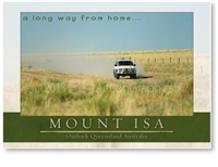 Mount Isa, a long way from home... - Standard Postcard  MTI-451