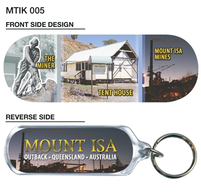 Mount Isa The Miner, Tent House, Mines- 66mm x 23mm Oblong MTIK-005