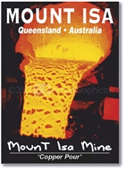 "Mount Isa Mine ""Copper Pour"" - Small Magnets  MTIM-026"