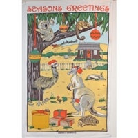 AUSSIE CHRISTMAS Cotton/Linen Tea Towel - MW17