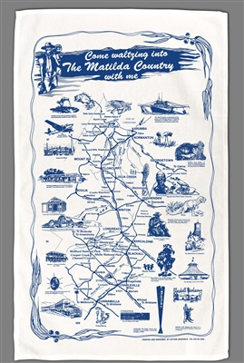 Matilda Country with me - Screenprint Tea Towels