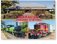 Normanton Railway Station - Standard Postcard  NOR-004