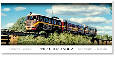 The Gulflander, Normanton - Panoramic Postcard  NOR-285PP