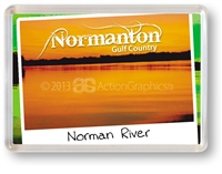 Normanton Norman River - Framed Magnet NORFM-006