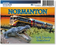 Normanton, Krys & Gulflander  - Rectangular Sticker  NORS-001