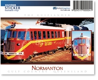 Normanton, Gulflander Train  - Rectangular Sticker NORS-028