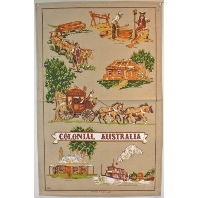 COLONIAL AUSTRALIA Cotton/Linen Tea Towel - O302