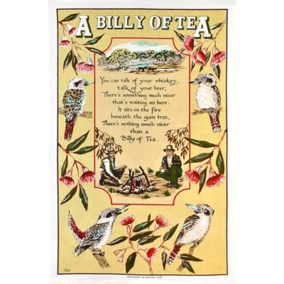 A BILLY TEA Cotton/Linen Tea Towel - OC300