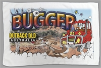 Outback Queensland - Bugger - Sublimated Tea Towels