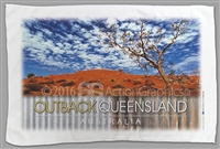 Outback Queensland - Red Sandhill - Sublimated Tea Towels