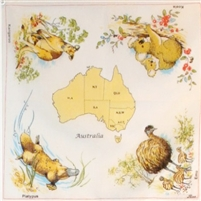 MAP OF AUSTRALIA Handkerchiefs - RH054