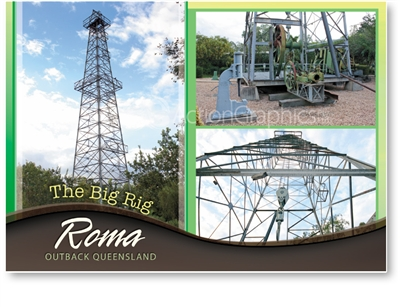The Big Rig - Standard Postcard  ROM-005