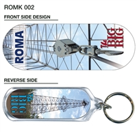 The Big Rig - 66mm x 23mm Oblong Keyring  ROMK-002