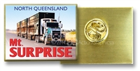 Roadtrain at Mt Surprise - Hat Badge