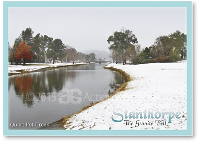 Snowing at Quart Pot Creek - Standard Postcard  STP-013