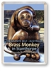 Brass Monkey - Framed Magnet  STPFM-007