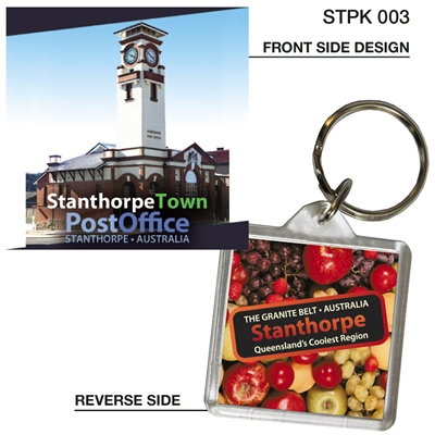 Stanthorpe Town Post Office - 40mm x 40mm Keyring  STPK-003