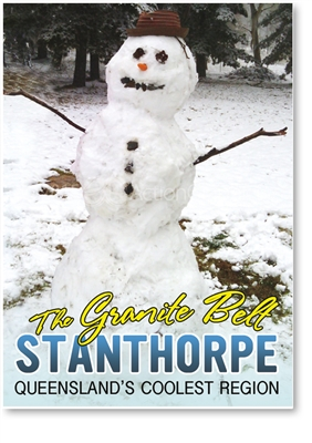 Snowman in Stanthorpe - Small Magnets  STPM-011