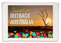 Sunset at Outback v1 - Sublimated Hand Towels