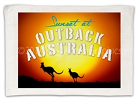 Sunset at Outback v2- Sublimated Hand Towels