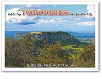Table Top Toowoomba The Garden City - Standard Postcard  TBA-008