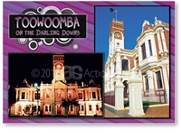Toowoomba on the Darling Downs - Standard Postcard  TBA-015