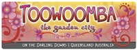 Toowoomba The Garden City - Bumper Sticker  TBABS-002