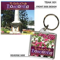 Toowoomba The Garden City - 40mm x 40mm Keyring  TBAK-001