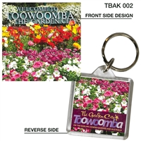 Toowoomba The Garden City - 40mm x 40mm Keyring  TBAK-002