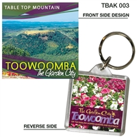Table Top Mountain - 40mm x 40mm Keyring  TBAK-003