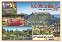 Toowoomba The Garden City - Rectangular Sticker TBAS-001