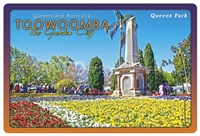 Queens Park Toowoomba - Rectangular Sticker TBAS-005